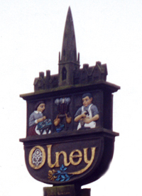 Photo of the Olney Sign in the Market Place